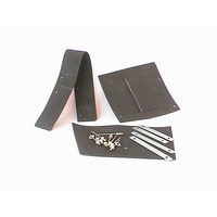 thumb-Set of rubbers for front fender 62-75 rivets and metal strips included Citroën ID/DS-2