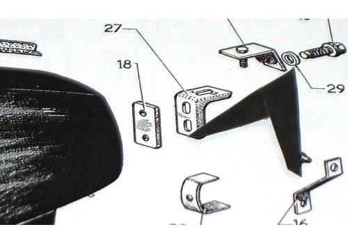Arruela de nylon (cor cinza) para pinos de fixação do pára-lama traseiro Citroën ID/DS