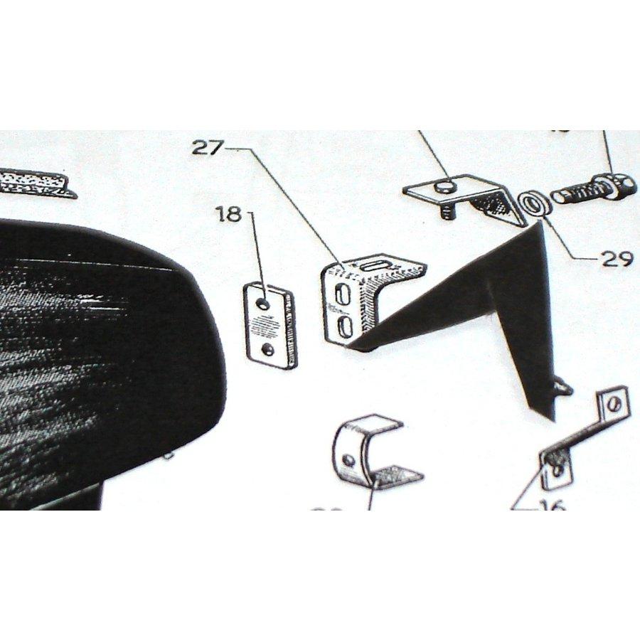 Rondelle de protection en plastique gris du boulon de fixation d'aile AR Citroën ID/DS-1