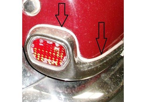 Joint de protection du reflecteur d'aile AR (PA) en plastique (gris) (L 550) Citroën ID/DS