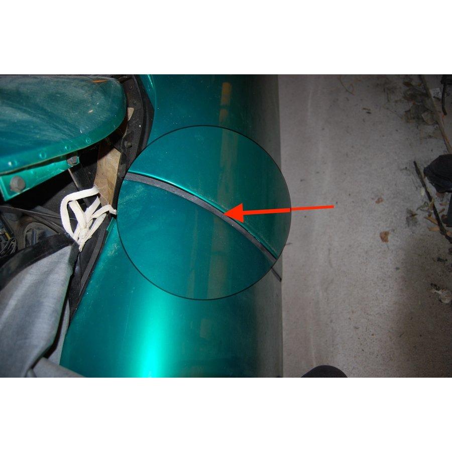 Vertikaal rubber [1] met ijzer binnenwerk voor deuren en achterscherm (L 700) 1 stuks! Citroën ID/DS-3