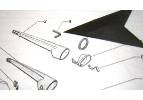 Caoutchouc de protection (en forme de queue d'hirondelle) pour clignoteur AR Citroën ID/DS