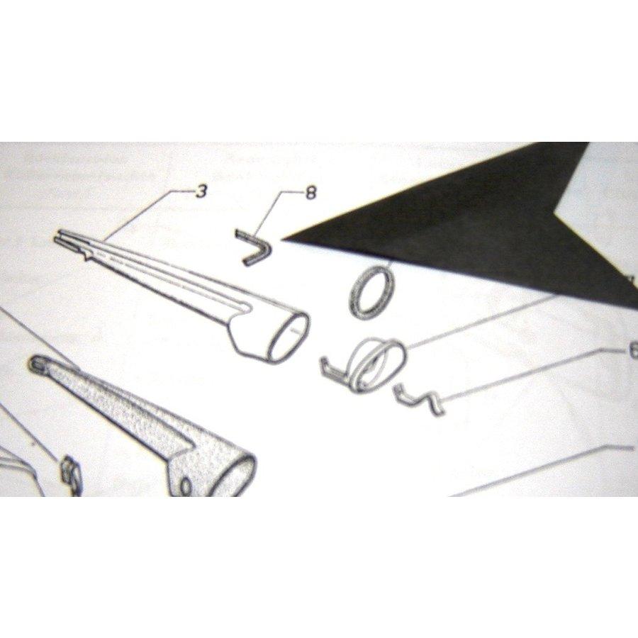 Caoutchouc de protection (en forme de queue d'hirondelle) pour clignoteur AR Citroën ID/DS-2