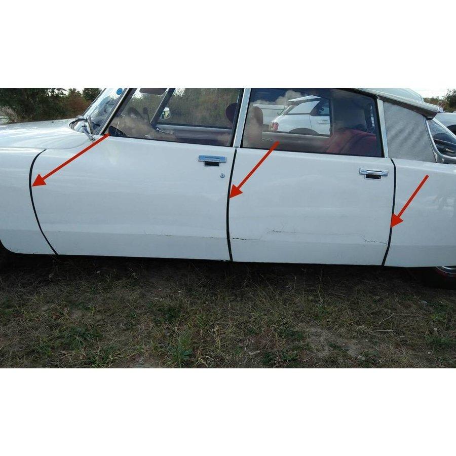 Abdichtgummisatz [6] mit Drahteinlage für Türen und Hinterkotflügel (L 700) Citroën ID/DS-3