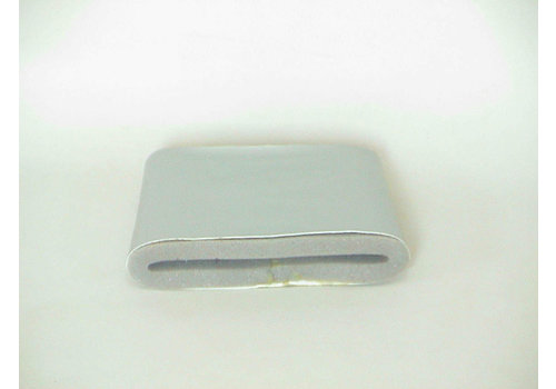 Revestimento da conduta de ar em couro sintético cor prata forrado com espuma no interior lado direito Citroën ID/DS