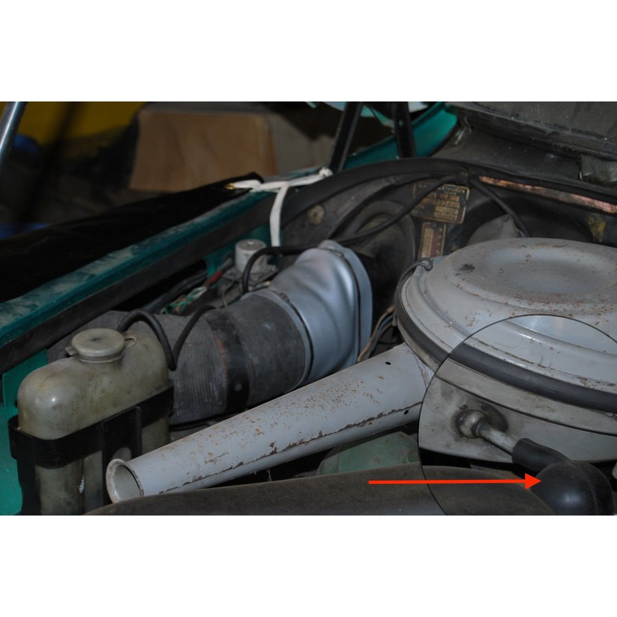 Rubber that connects the air filter to the cylinder head cover Citroën ID/DS-10