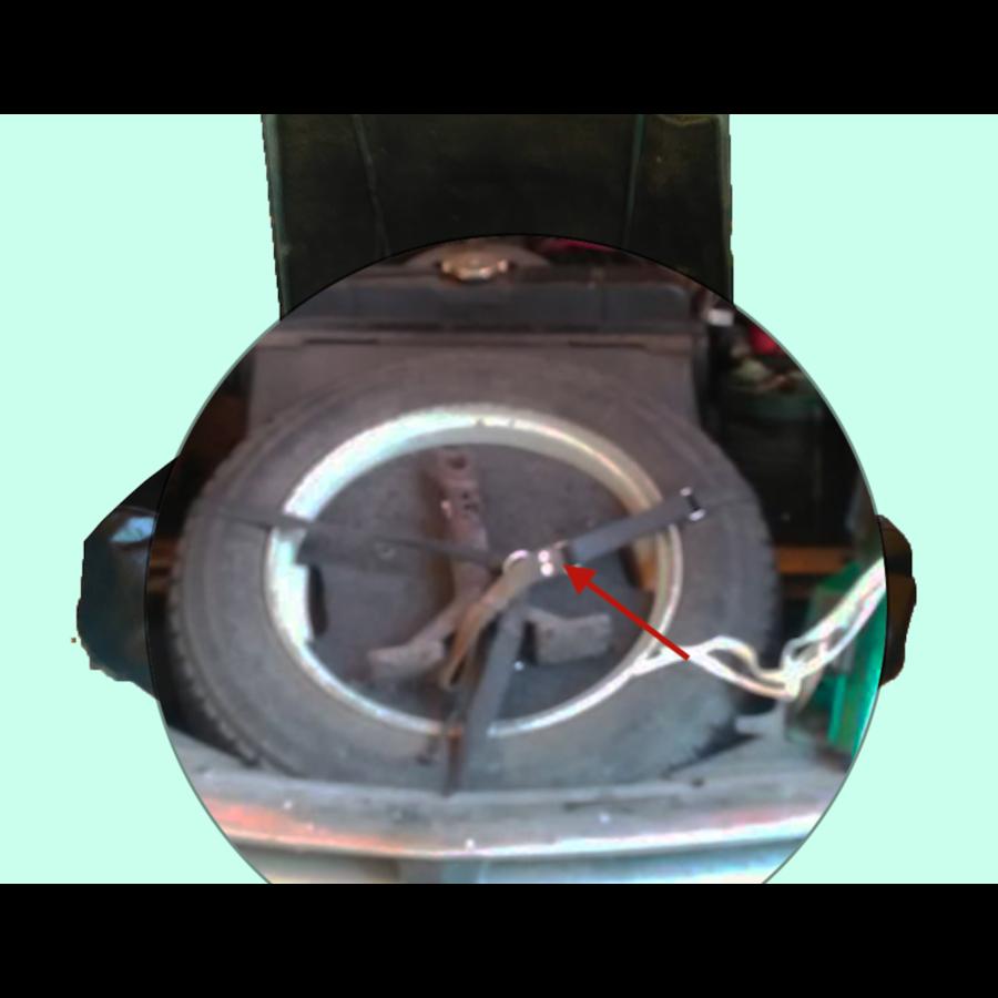 Bande de fixation de roue de rechange en coton Citroën ID/DS-5