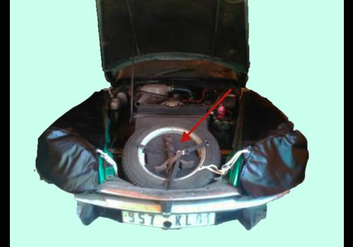 Kit dans la roue de secour pour support bidon d'huile et outils Citroën ID/DS