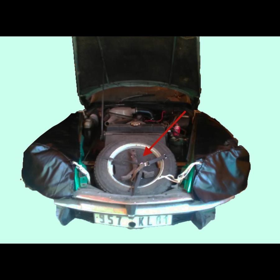 Tragplatte für Ölkanne und Jack im Reserverad Citroën ID/DS-2