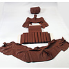 SM Original rear bench cover brown leather (seat: 1 piece back: 4 pieces) Citroën SM