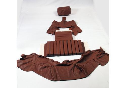 Garniture origine banquette AR BL cuir marron (assise 1 pièce dossier 4 pièces) Citroën SM
