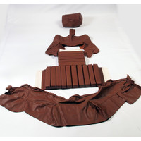 thumb-Original rear bench cover brown leather (seat: 1 piece back: 4 pieces) Citroën SM-2
