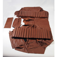 thumb-Original rear bench cover brown leather (seat: 1 piece back: 4 pieces) Citroën SM-3