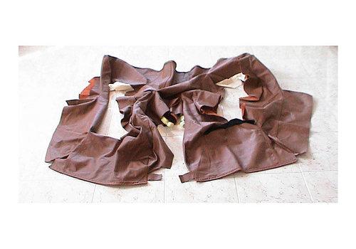 Partie de garniture de banquette AR bordure de la partie assise cuir marron Citroën SM
