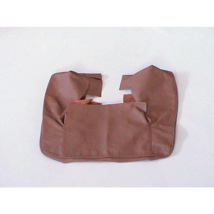 Front seat cover part outer rim of upper back brown leather Citroën SM-1