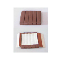 thumb-Front seat cover part inner part of back (5 bars) brown leather Citroën SM-1