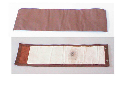 Rear bench cover part vertical part of the armrest brown leather Citroën SM