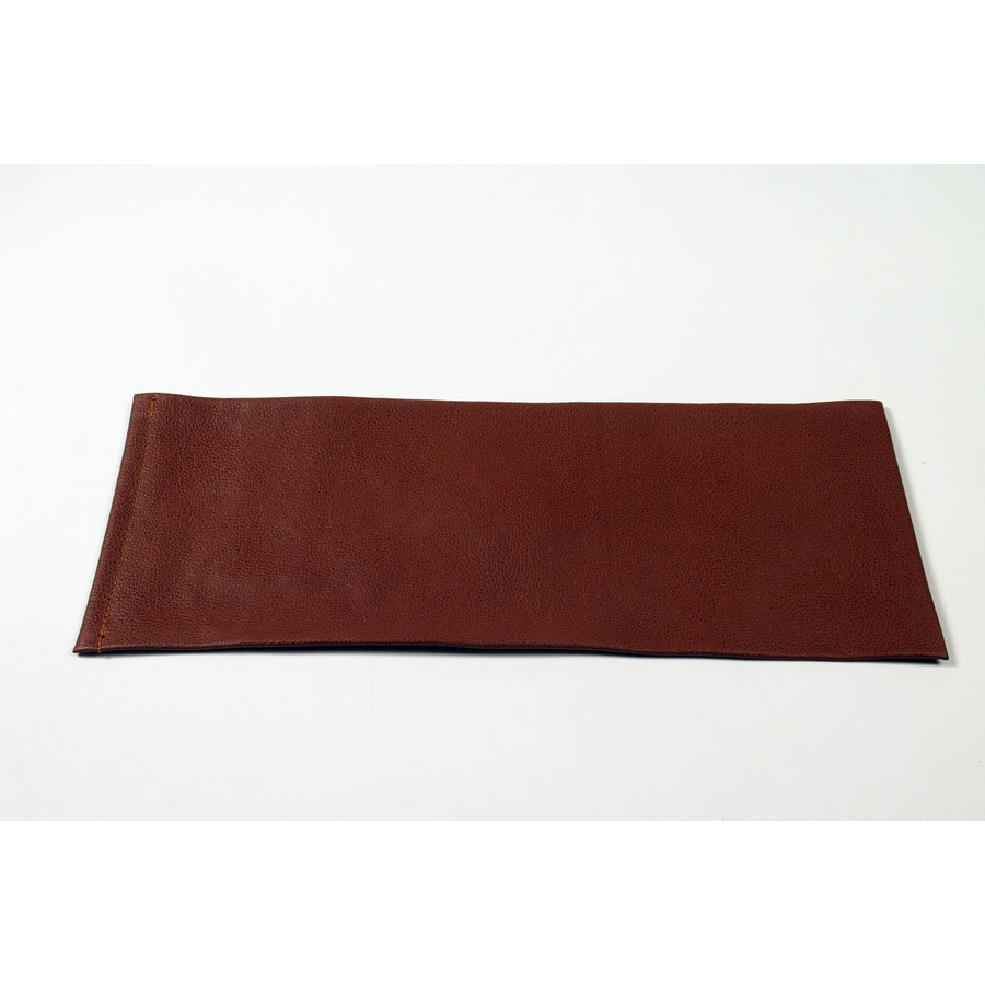 Rear bench cover part vertical part of the armrest brown leather Citroën SM-4