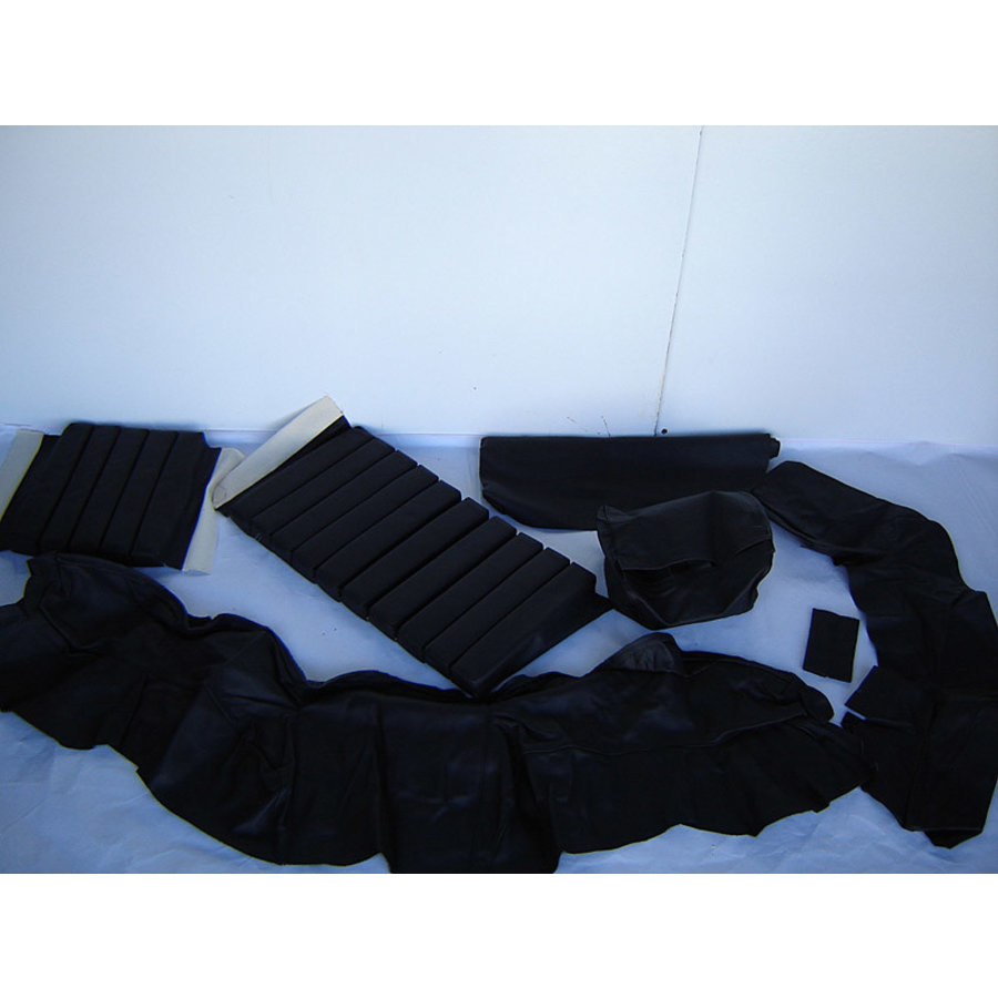 Original front seat cover black leather (seat back closing panel and head rest cover) Citroën SM-2
