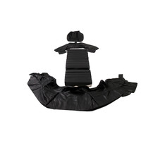 thumb-Original front seat cover black leather (seat back closing panel and head rest cover) Citroën SM-4