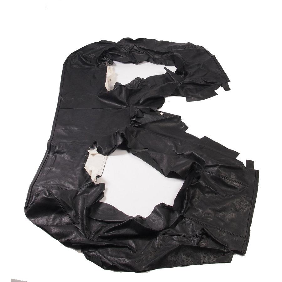 Garniture origine banquette AR BL cuir noir (assise 1 pièce dossier 4 pièces) Citroën SM-2