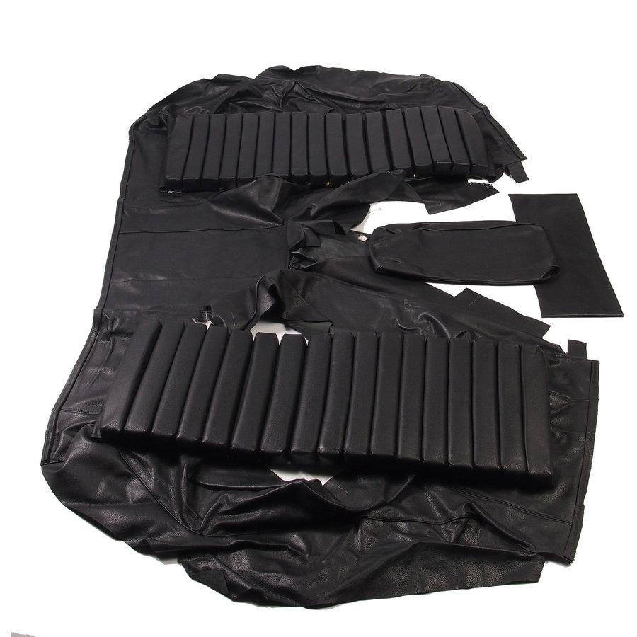 Garniture origine banquette AR BL cuir noir (assise 1 pièce dossier 4 pièces) Citroën SM-3