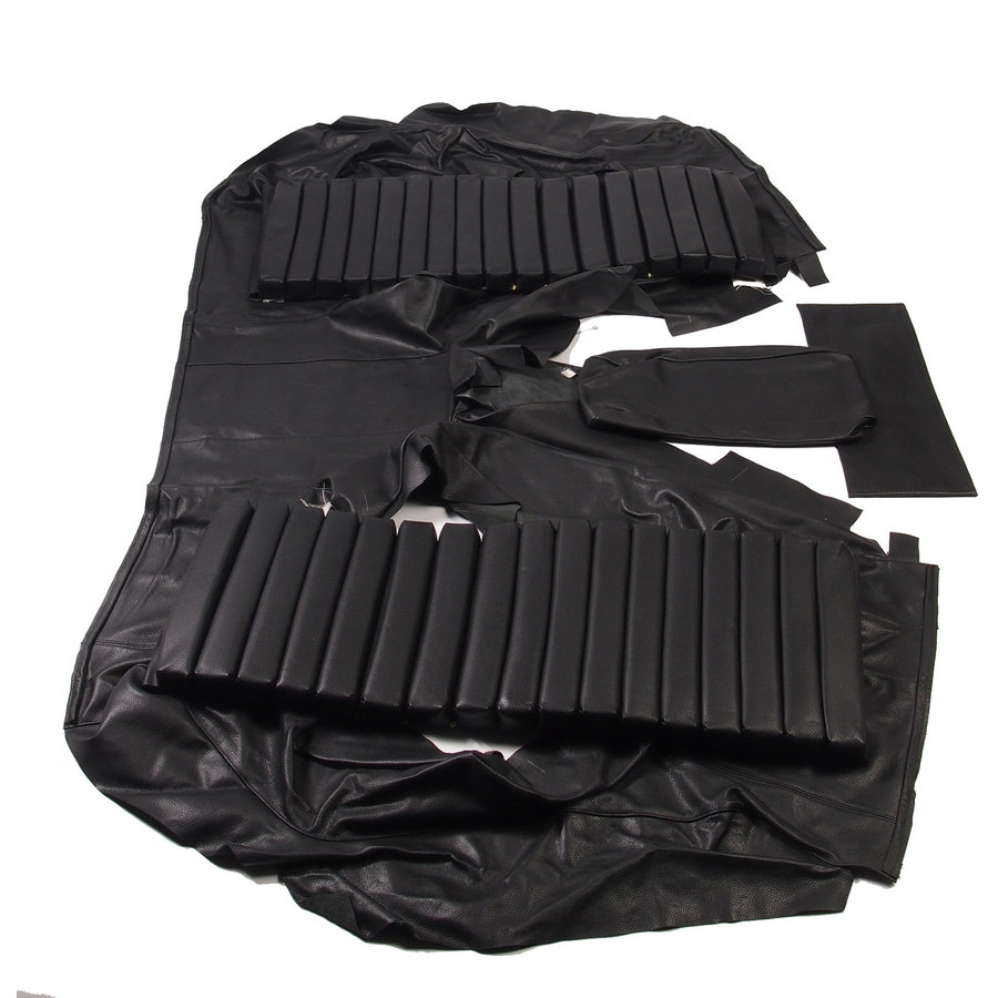 Original rear bench cover black leather (seat: 1 piece back: 4 pieces) Citroën SM-4