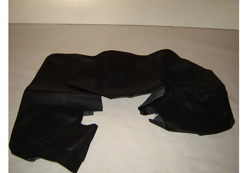 SM Front seat cover part outer rim of upper back black leather Citroën SM