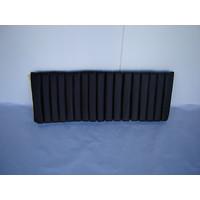 thumb-Partie de garniture de banquette AR 1 jeu de bandes intérieures (17 bandes) cuir noir Citroën SM-2
