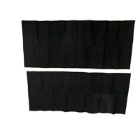 thumb-Protection panel of black cloth fixed at rear of rear bench [2] (420 x 1000) Citroën SM-5