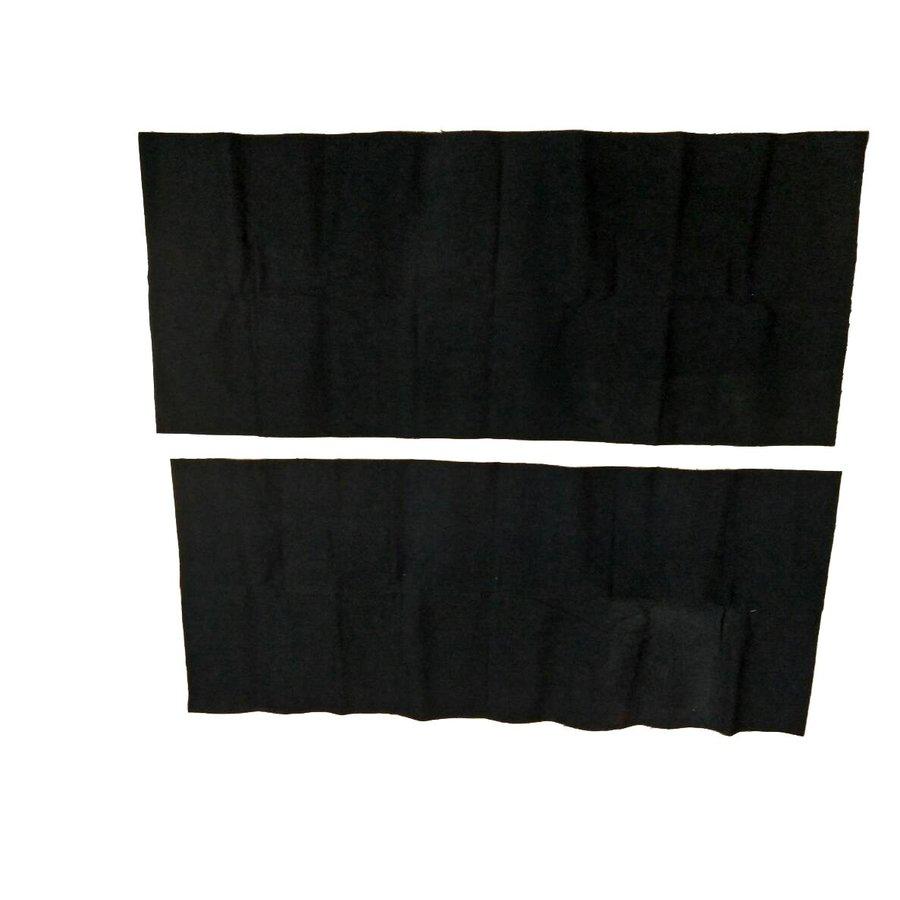 Garniture étoffe noir fixée contre l'AR de la banquette AR[2] (420 x 1000) Citroën SM-5