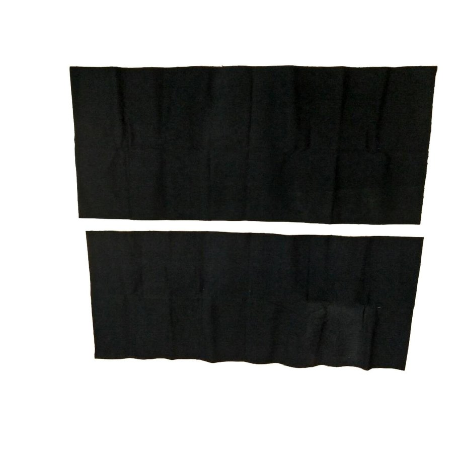 Protection panel of black cloth fixed at rear of rear bench [2] (420 x 1000) Citroën SM-6