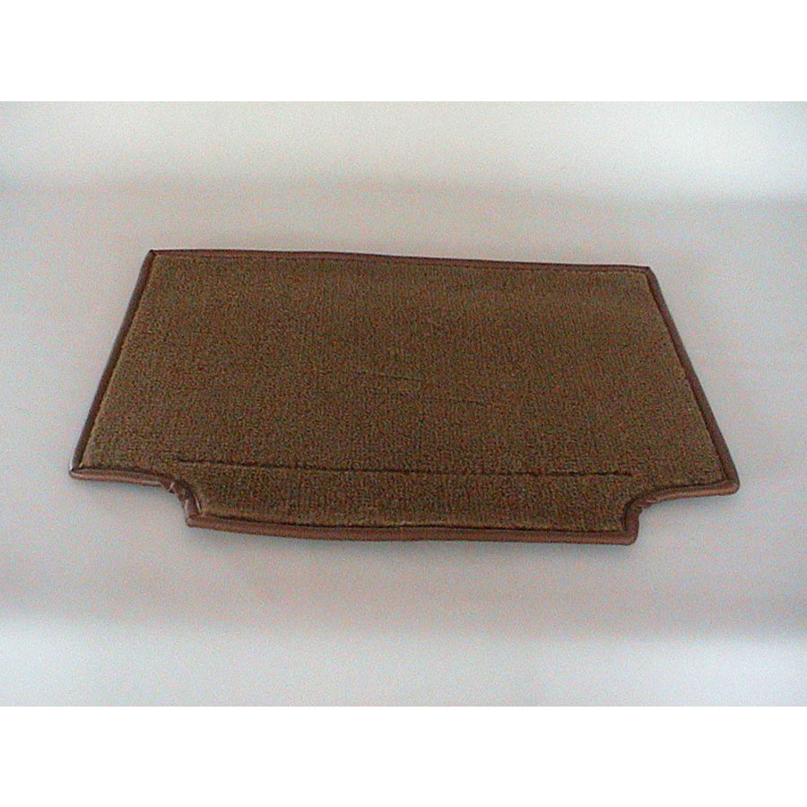 Carpet piece brown fastened to back of front seat Citroën SM-2