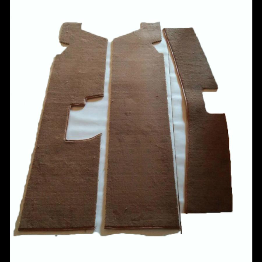 Complete set of carpet mat pieces brown Citroën SM-3