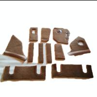 thumb-Complete set of carpet mat pieces brown Citroën SM-5
