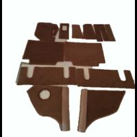 thumb-Complete set of carpet mat pieces brown Citroën SM-7