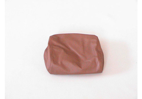 Head rest cover brown leather part for headrest and metal headrest support Citroën SM