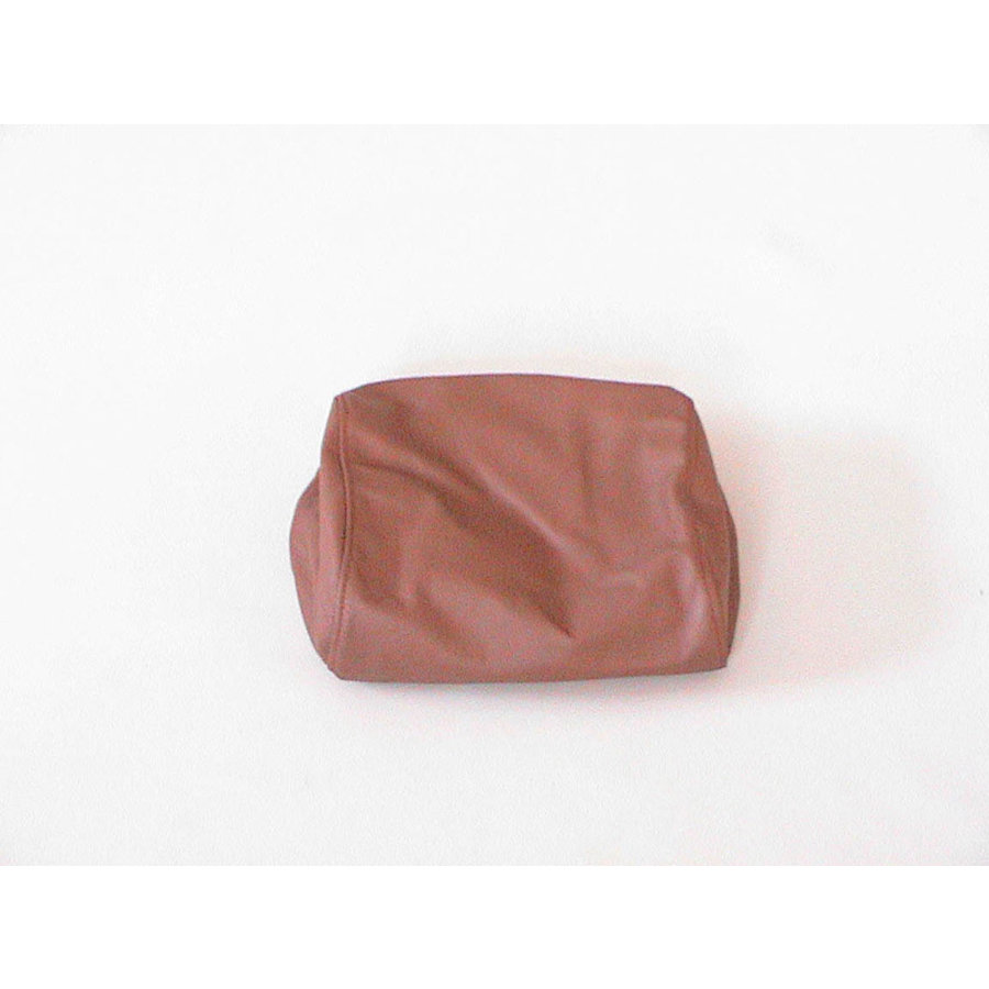 Head rest cover brown leather part for headrest and metal headrest support Citroën SM-2