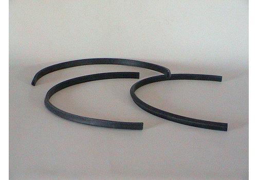 Junção de borracha em forma de U entre o vidro que recobre a placa e saia dianteira (L 550) Citroën SM