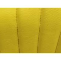 thumb-Original seat cover for front seat in `Banana` yellow leatherette Mehari Citroën 2CV-1