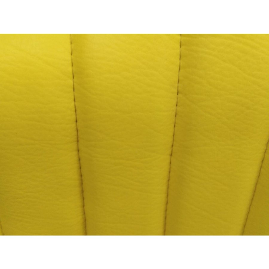 Original seat cover for front seat in `Banana` yellow leatherette Mehari Citroën 2CV-2