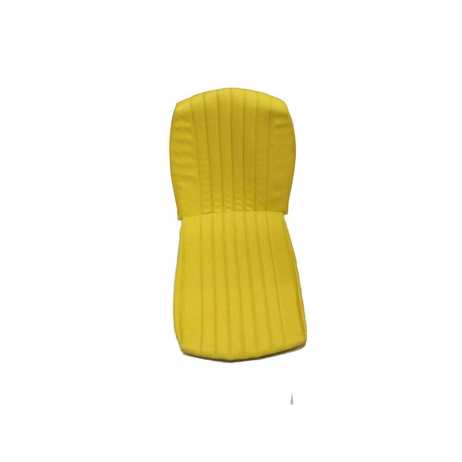 Housse d'origine en simili jaune `Banane` pour siège AV MEHARI Citroën 2CV-3
