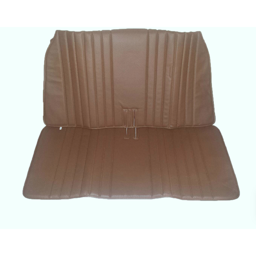 Original seat cover set for front bench in brown leatherette DYANE Citroën 2CV-5