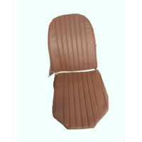thumb-Original seat cover set for front L seat in brown leatherette (2 round angles) Dyane Citroën 2CV-4