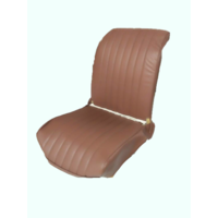 thumb-Original seat cover set for front L seat in brown leatherette (2 round angles) Dyane Citroën 2CV-6