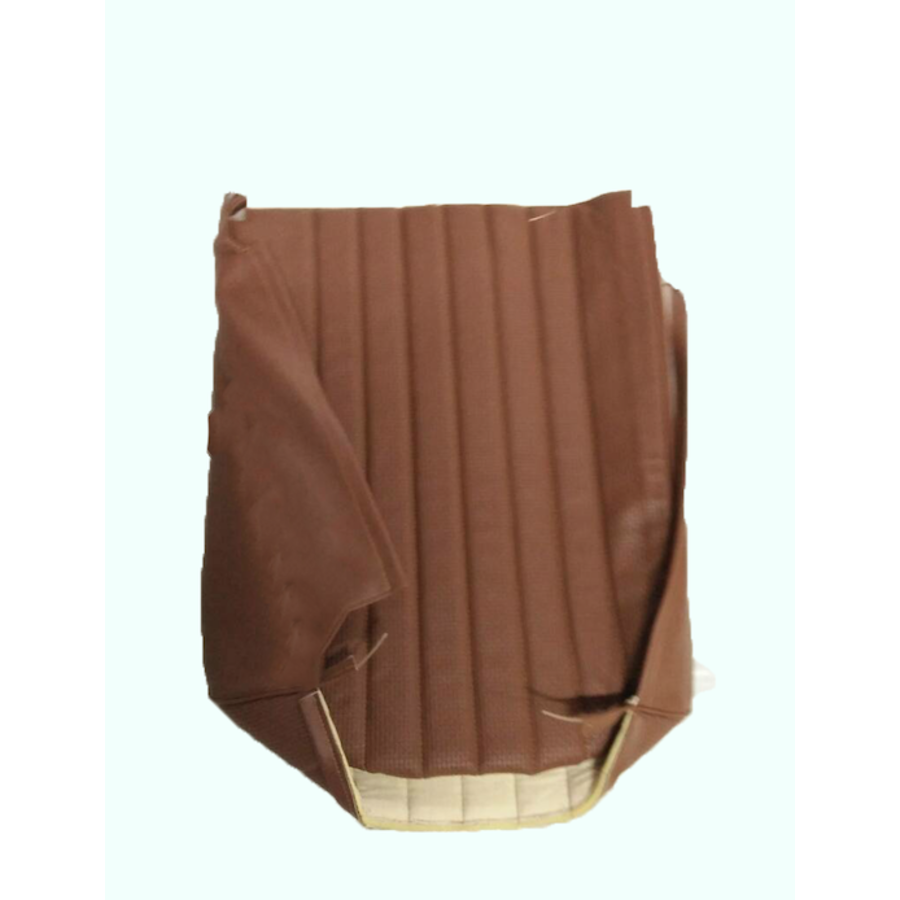 Original seat cover set for front L seat in brown leatherette (2 round angles) Dyane Citroën 2CV-7