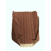thumb-Original seat cover set for front L seat in brown leatherette (2 round angles) Dyane Citroën 2CV-8