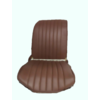 2CV Original seat cover set for front R seat in brown leatherette (1 round angle) Dyane Citroën 2CV