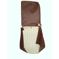 thumb-Original seat cover set for front R seat in brown leatherette (1 round angle) Dyane Citroën 2CV-4