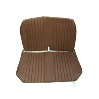 thumb-Original seat cover set for front bench with closed sides in brown leatherette DYANE Citroën 2CV-1